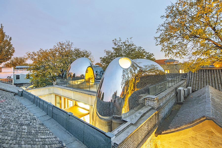 馬岩松的MAD建築事務所去年完成的改造作品「胡同泡泡218號」。(取自MAD官網)