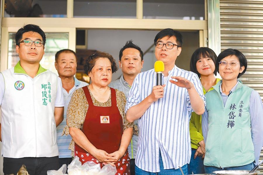 民進黨補選高雄市長參選人陳其邁近來在民調中大贏對手,陳其邁強調,8月15日才是最後一哩路。(林雅惠攝)