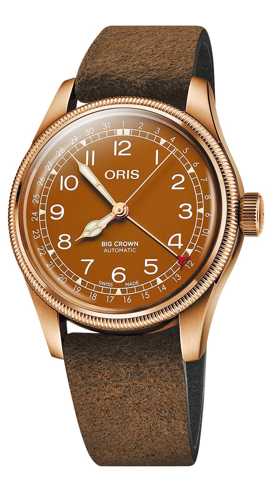 ORIS Big Crown指針式日期青銅表,6萬元。(ORIS提供)