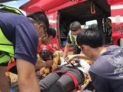 攀登八通關摔落20米 女登山客撞頭直昇機救援送醫