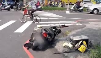 騎士送羊奶違規左轉撞轎車亡 遺孀遭提告求償