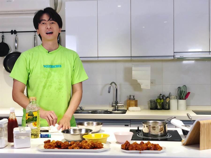 郑元畅首度挑战下厨。(最大国际娱乐提供)