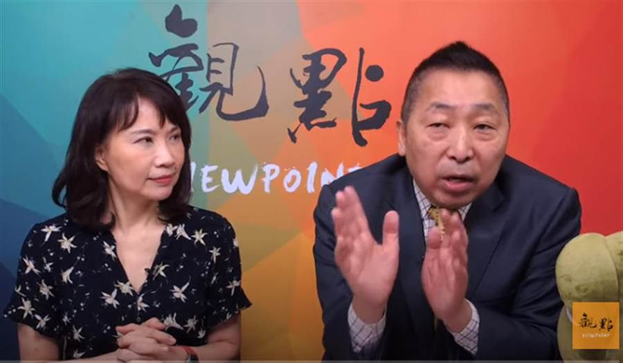 陳鳳馨以及唐湘龍。(取自觀點直播)