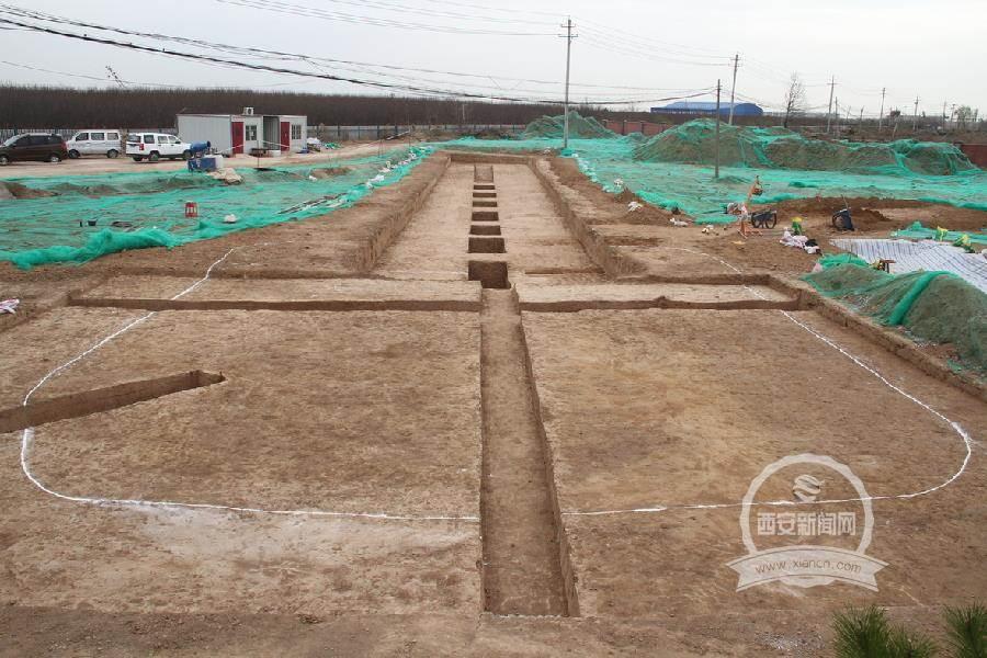 隋代王韶墓全景照片。(陝西省考古研究院提供)