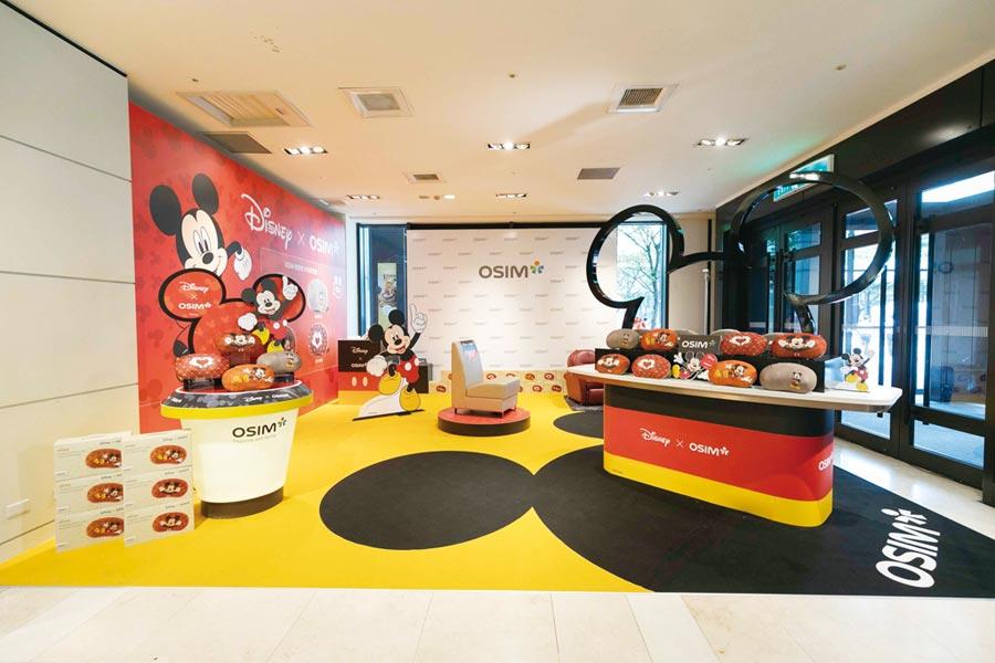 Disney與OSIM跨界聯名商品,引發年輕族群搶買風潮。圖/OSIM提供
