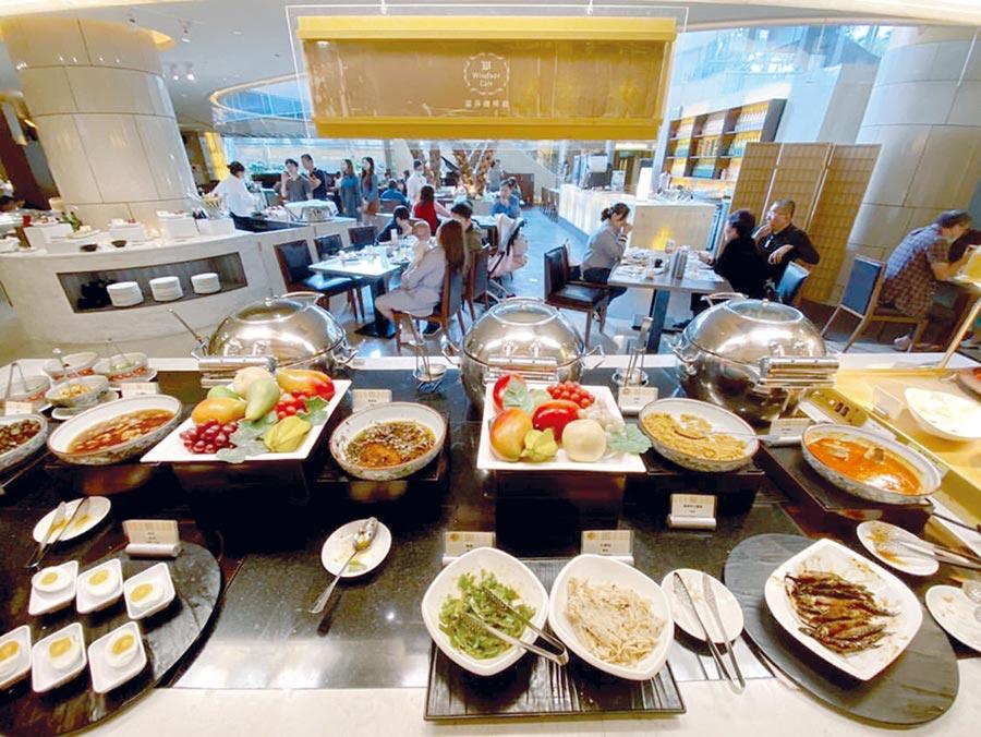 台中裕元花園酒店振興加倍全民早餐,每人299元放大優惠。圖/台中裕元花園酒店提供