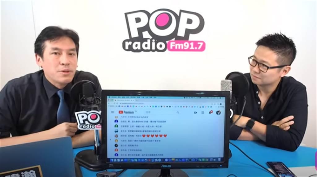 黃暐瀚(左)、朱凱翔(右)。(取自POP撞新聞直播)
