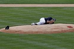 MLB》強襲球擊中頭部!田中將大送醫無大礙