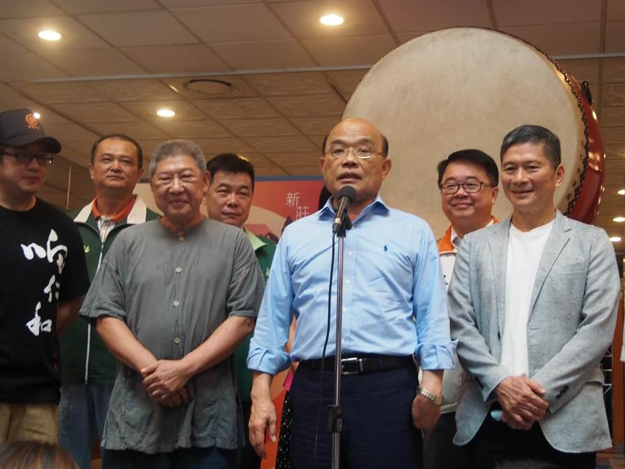 陸委會逆轉不修港澳條例,行政院長蘇貞昌表示,法令若足夠,就沒有修改必要。(賴彥竹攝)