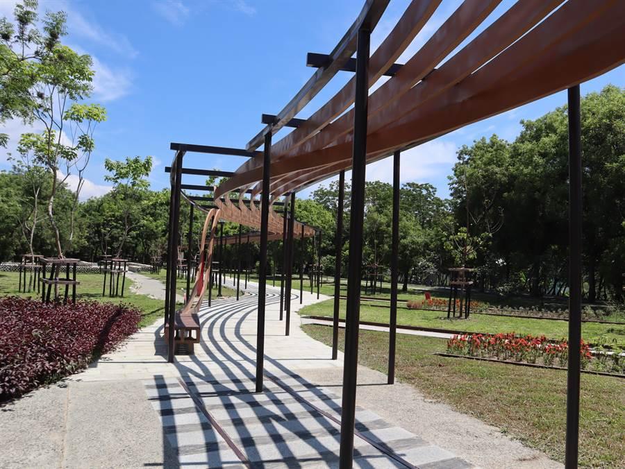 東勢客家文化園區配合工程竣工重新開園,以嶄新樣貌呈現在市民眼前。(陳淑娥攝)