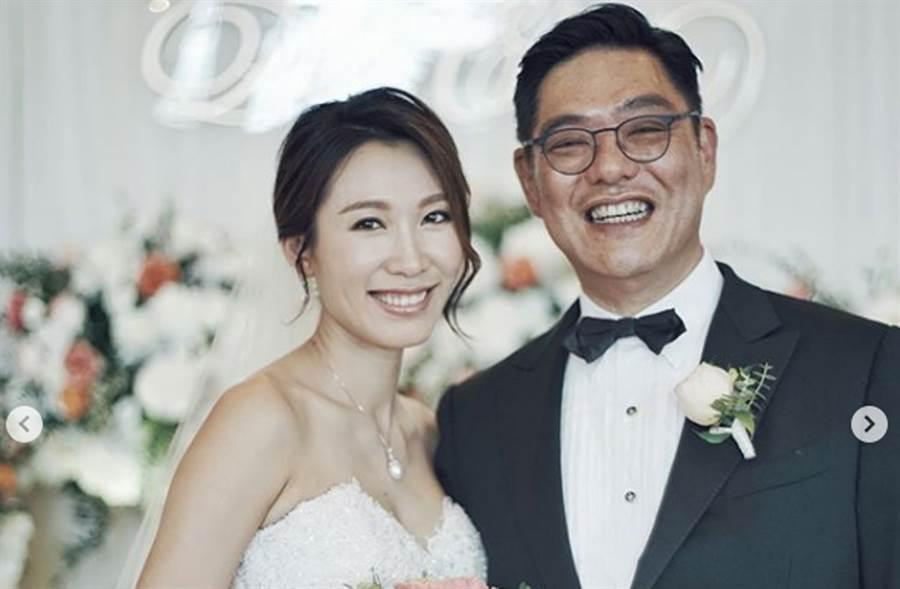 「御用宮女」李美慧2年前閃婚,嫁給大25歲富商曾文豪。(翻攝自李美慧IG)