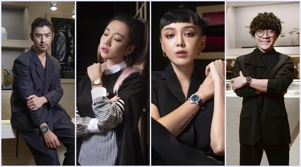 陳柏霖、吳卓源、李函、盧廣仲選了自己愛的錶款。(圖/品牌提供)