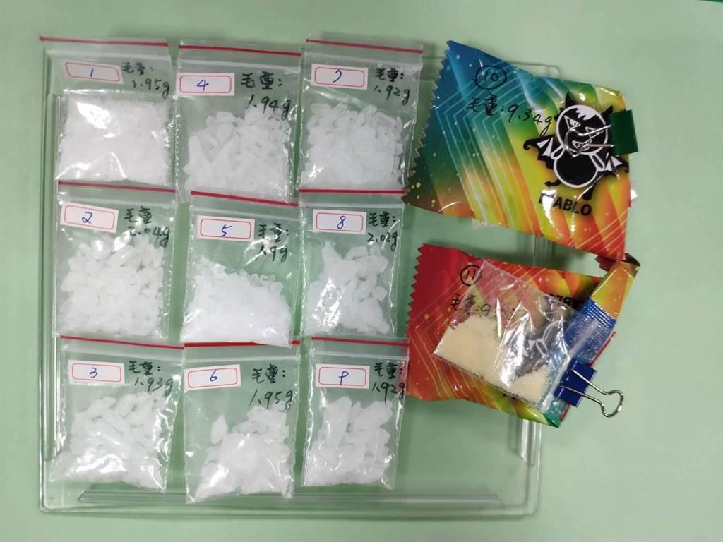 金門警方查獲的毒品之一。(警方提供)