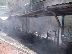 竹科電腦公司機車停車棚火警 37輛機車遭焚毀