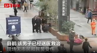 韓信故鄉2兄弟當街揮菜刀砍殺警員 遭開槍制服視頻曝光