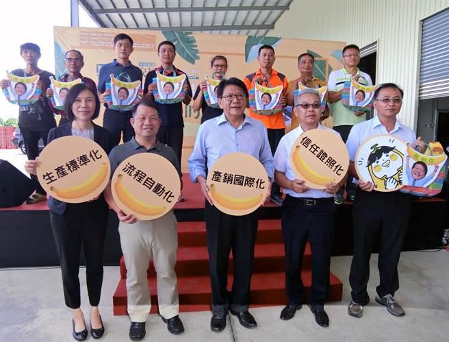 屏东县政府与产学合作推动「筑城计画」,透过科技发展智慧农业,提升台蕉产能,拓展外销市场再创荣景。(潘建志摄)