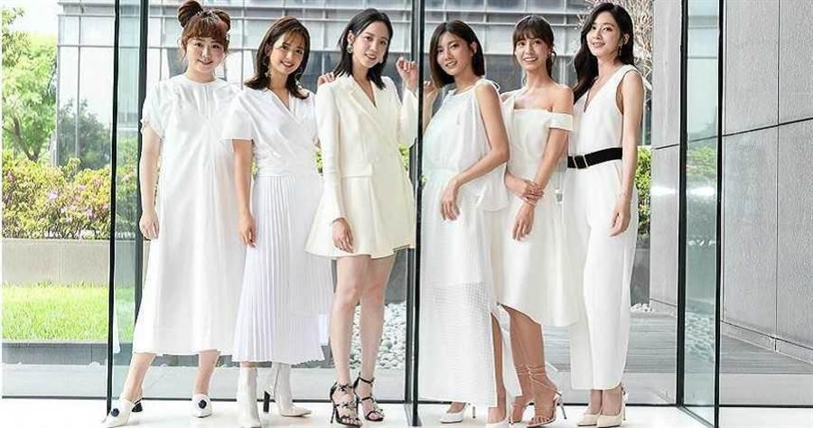 左起喬雅琳、臧芮軒、程予希、蔡黃汝、陳敬宣、謝翔雅。(圖/三立提供)
