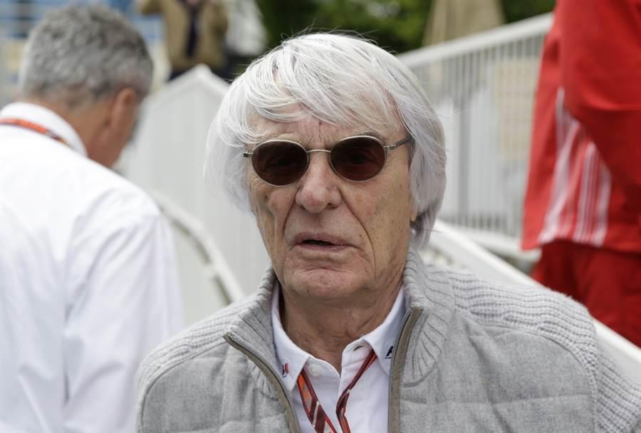 英國賽車大亨伯尼埃克斯頓在89歲時迎接長子誕生。(美聯社資料照)