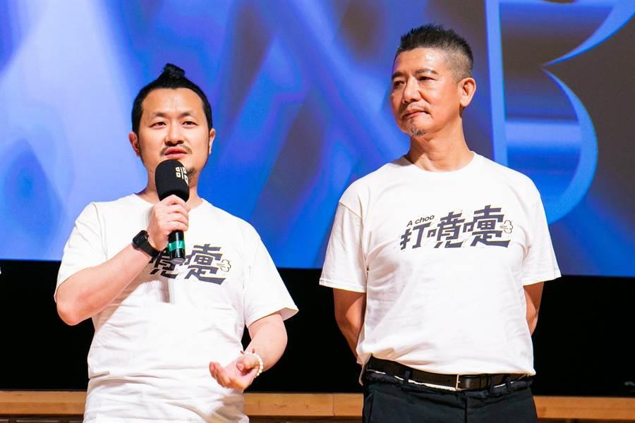 九把刀和「柯爸」柯耀宗出席映後座談。(台北電影節提供)