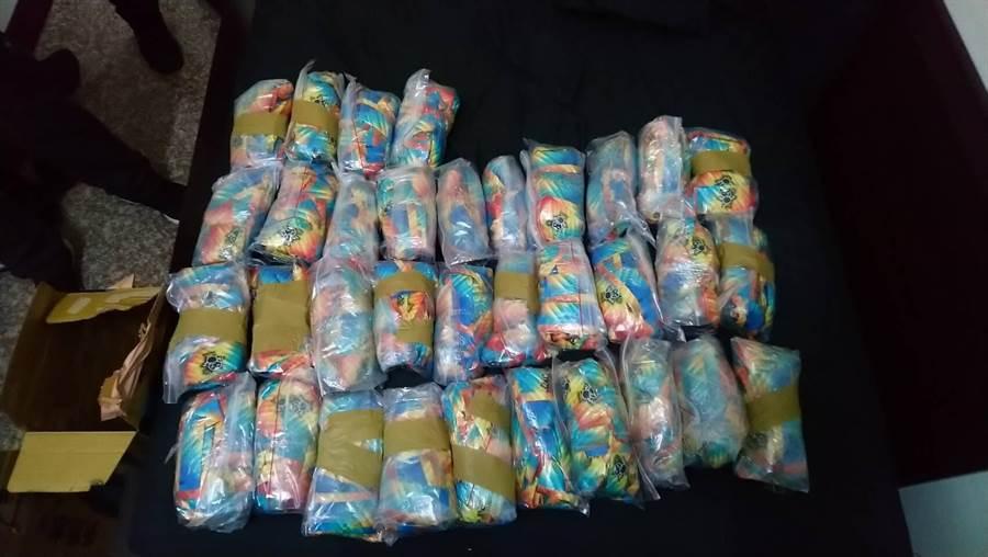 金門警方查獲的毒品之四。(警方提供)
