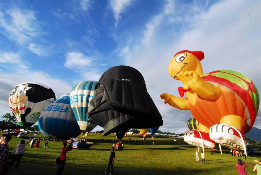 熱氣球嘉年華即將在11日登場,台東鄉親入園費有優惠好康。(莊哲權攝)