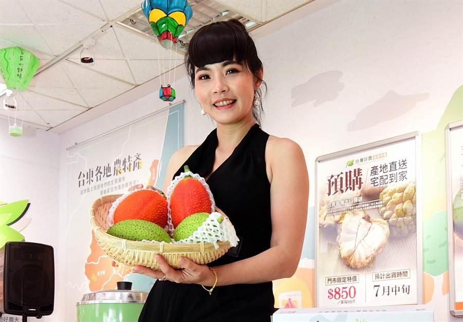 台東區農改場育成木虌果新品種「台東1號」,具市場開發潛力。(莊哲權攝)