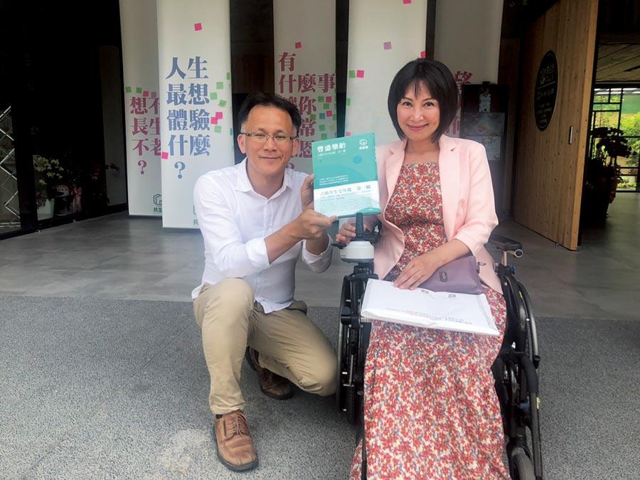 左為合勤健康事業董事長李柏憲、右為前立委楊玉欣。