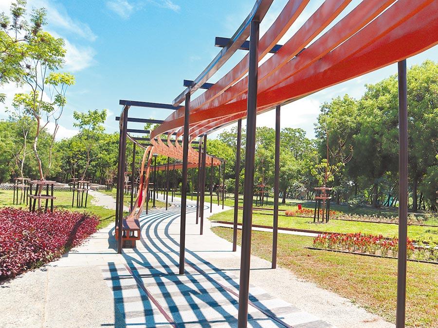 東勢客家文化園區重新開園,以嶄新樣貌呈現,提供市民更優質的休憩空間。(陳淑娥攝)
