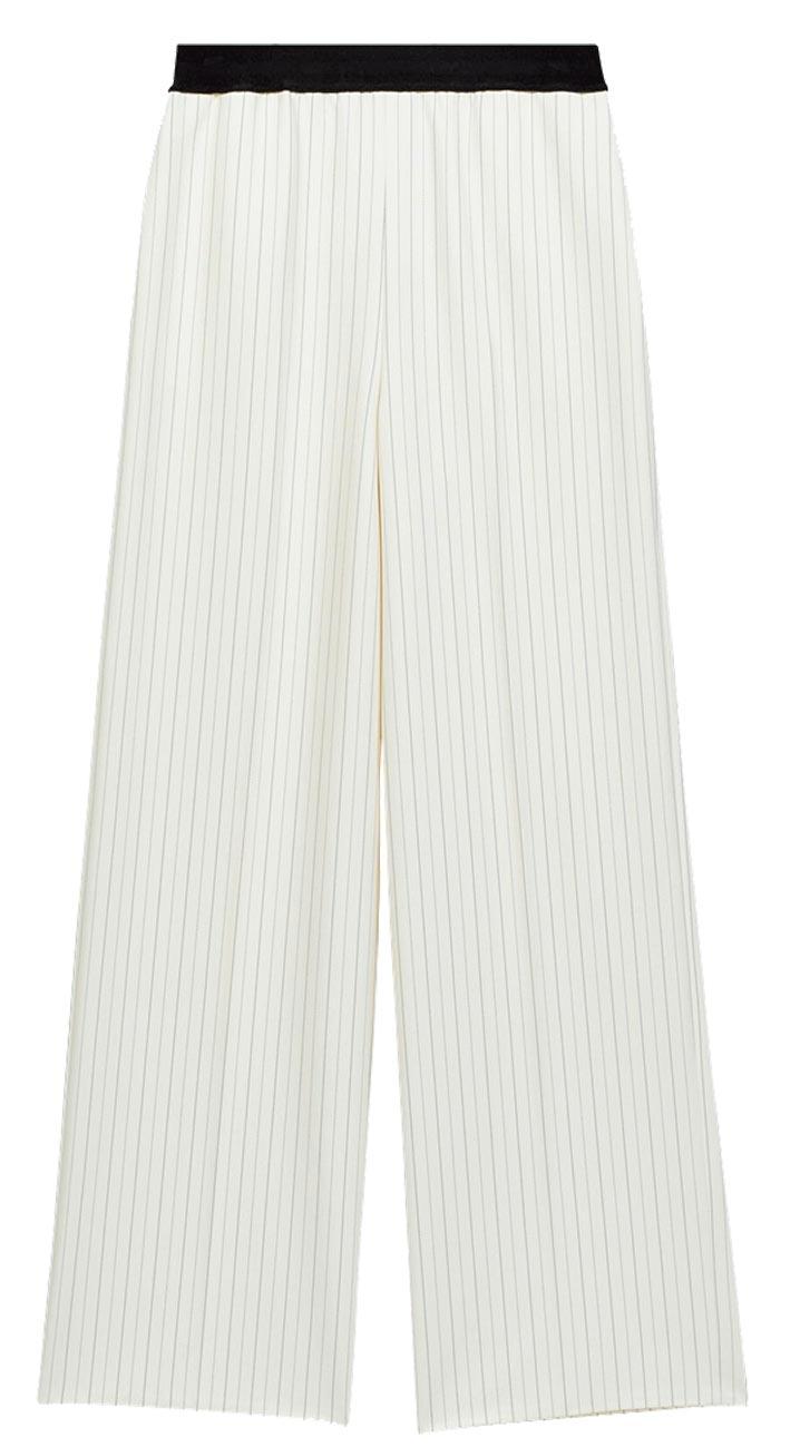 Maje直條紋寬褲,8120元。(Maje提供)