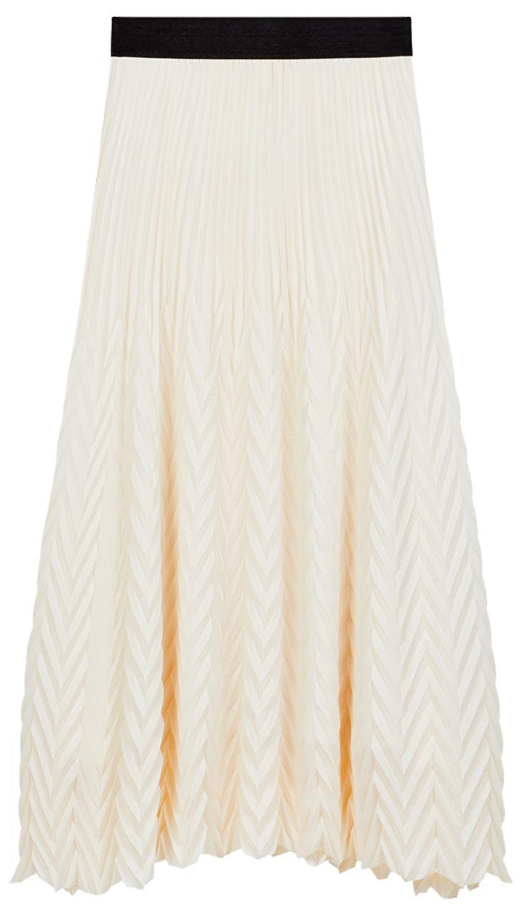 Maje壓紋長裙,9050元。(Maje提供)