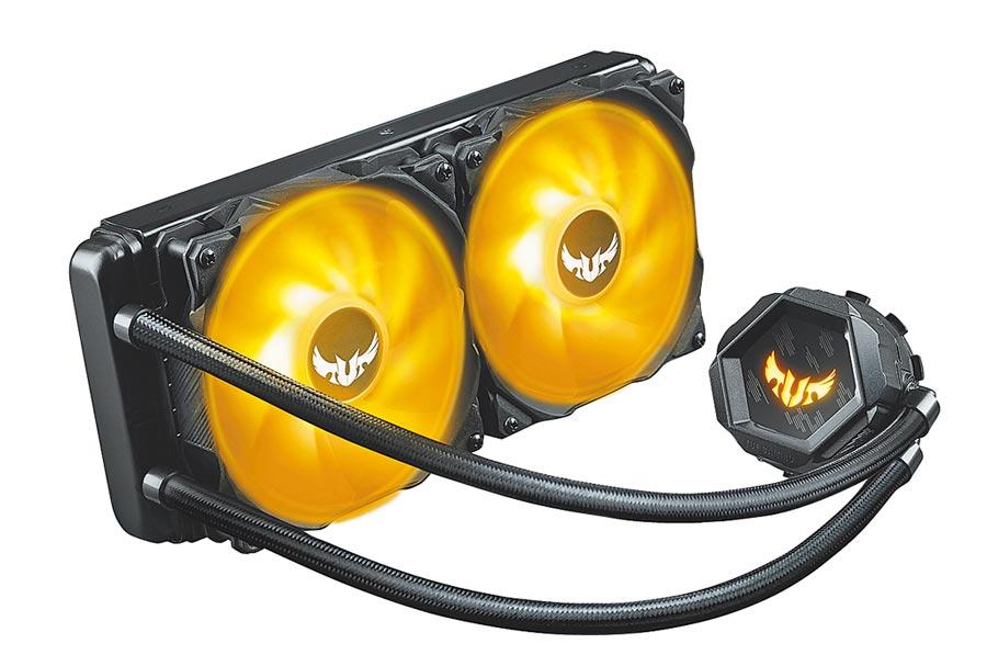 華碩的TUF Gaming LC 240 RGB一體式水冷散熱器,3390元。(華碩提供)