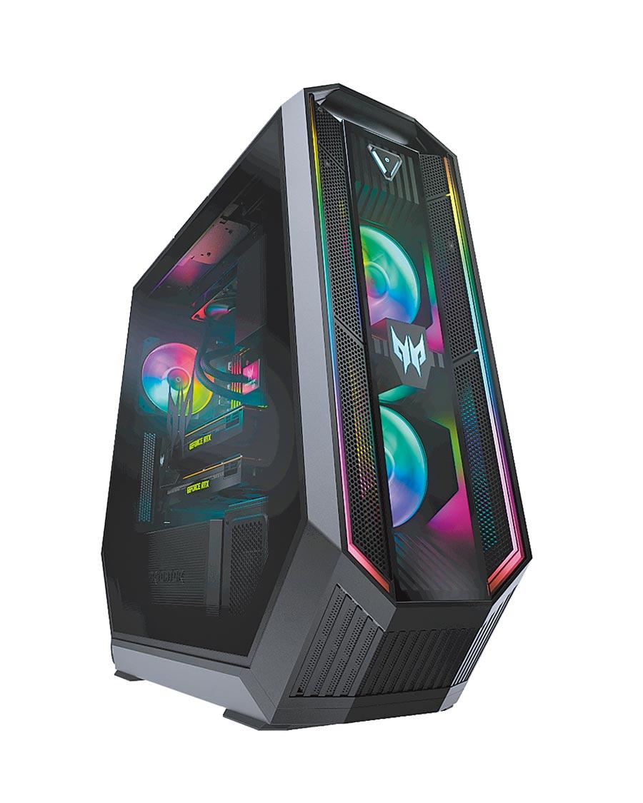 宏碁的Predator Orion 9000,專為核心玩家和職業電競選手所設計,提供頂尖效能、高階散熱系統和易於升級的特色。(宏碁提供)
