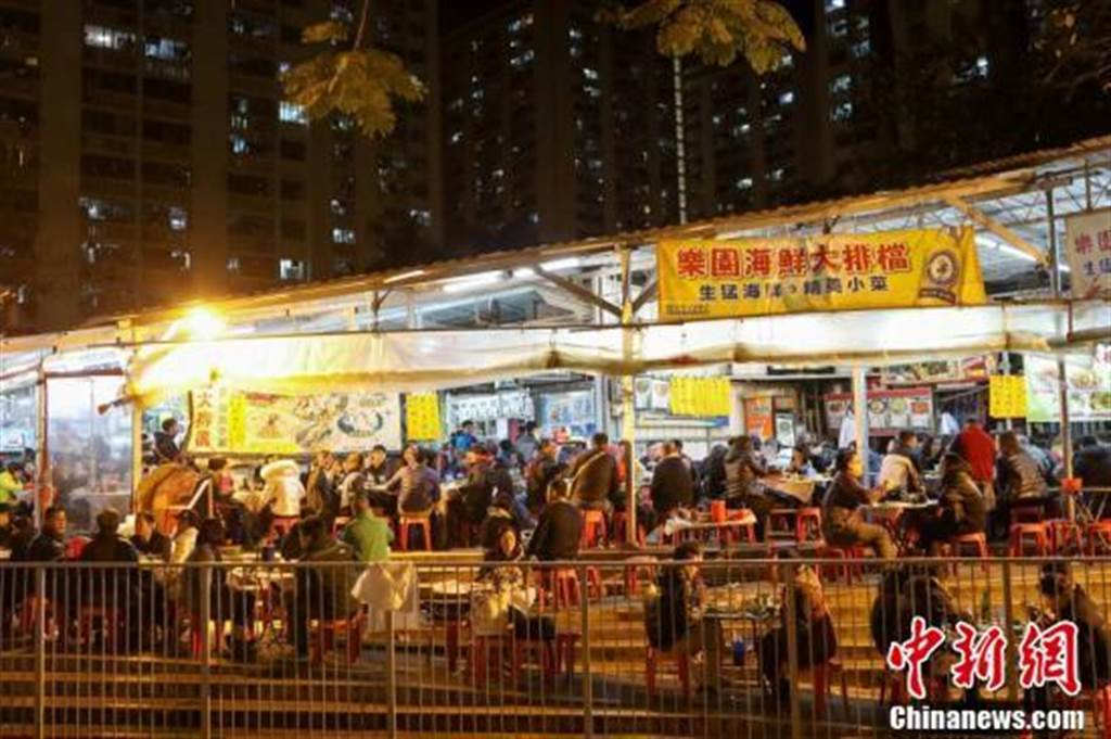 圖為香港夜市大排檔(中新社)