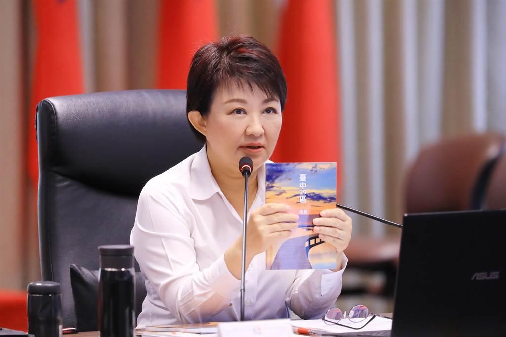 台中市長盧秀燕7日表示,後疫情時代,許多飯店、遊樂園都反映這段時間相較去年同期生意更好。(盧金足攝)