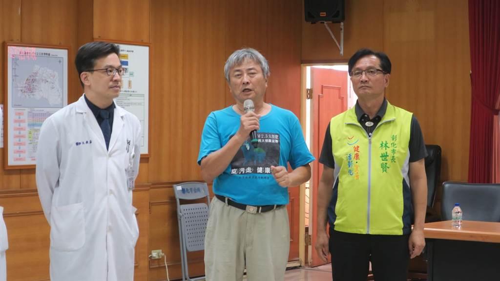 台健空盟執行長楊澤民強調很多長期暴露在空汙環境中的高危險群,更應該及早檢查,早發現、早治療。(謝瓊雲攝)