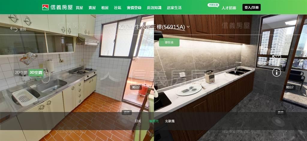「DiNDON智能賞屋」的3D變裝功能展示-廚房後現代