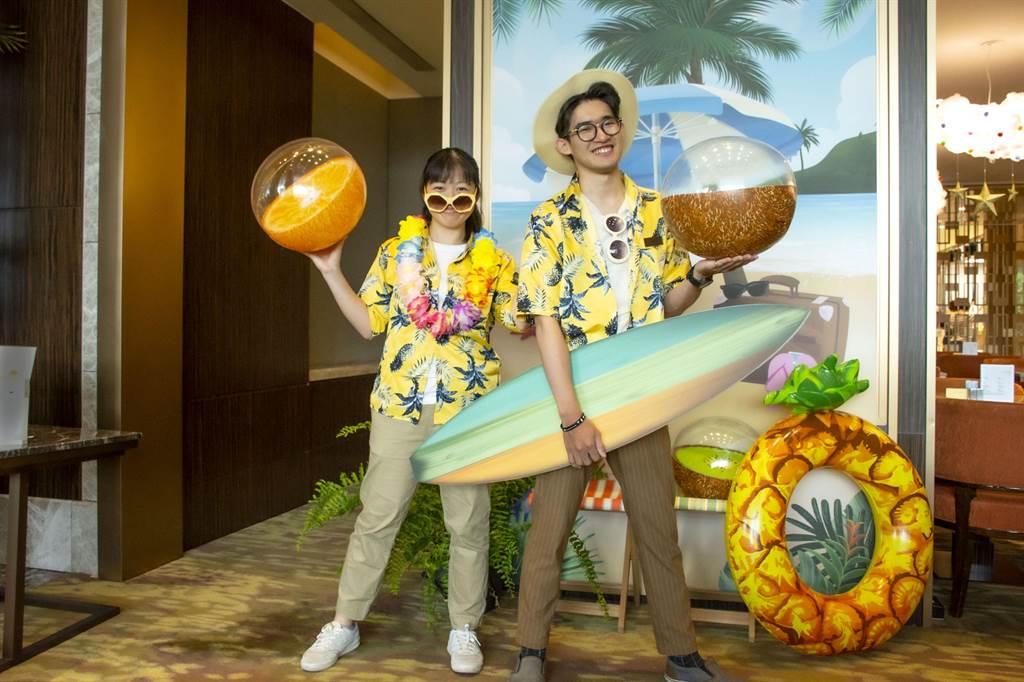 六福強打夏季風,The Lounge邀請民眾也一起來Aloha。(六福旅遊集團提供)