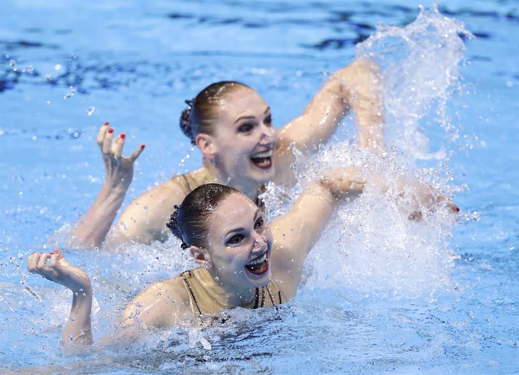 俄羅斯水上芭蕾實力出眾,是奧運奪金呼聲最高的隊伍。(資料照/美聯社)