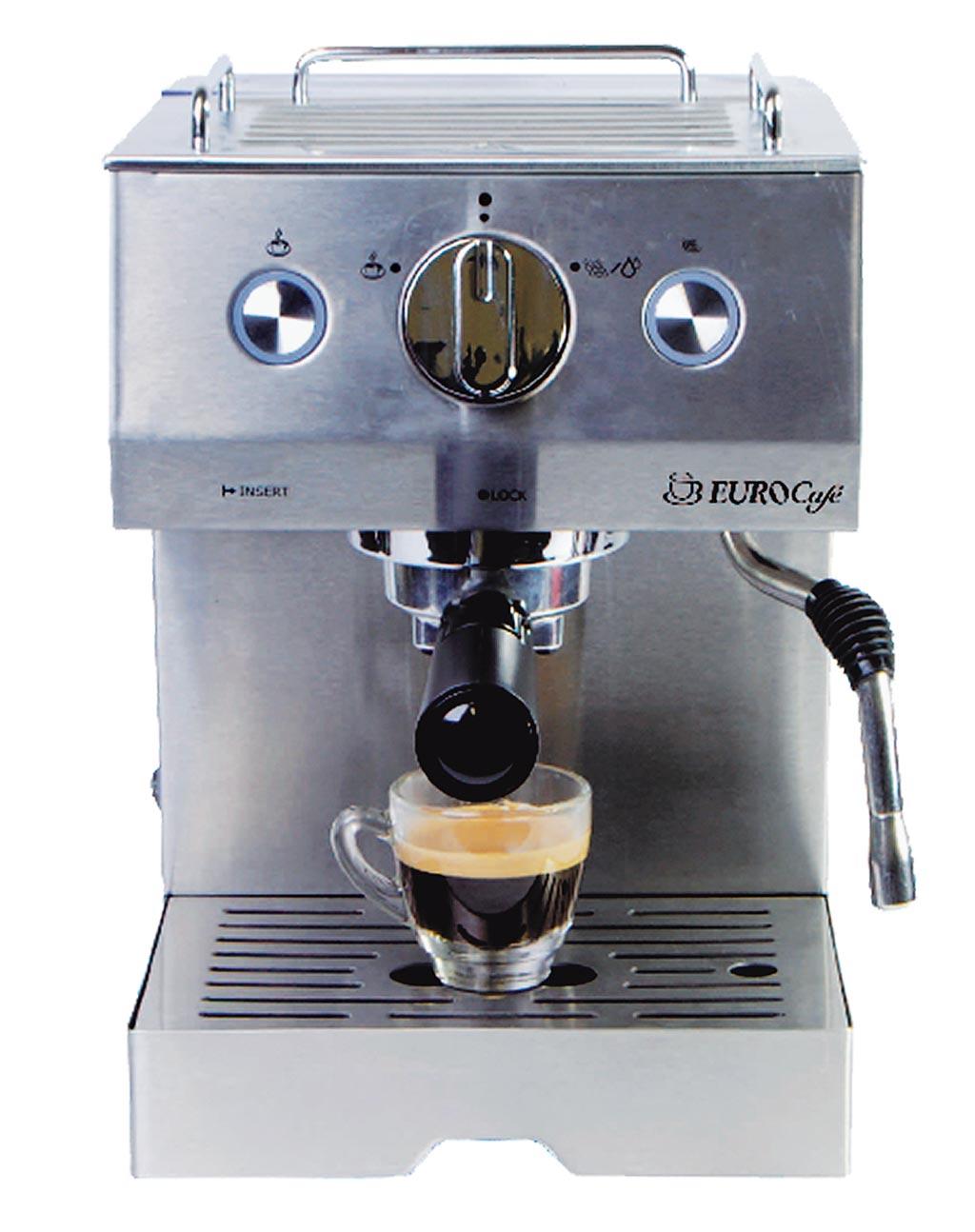 新光三越台北南西店15日起限時限量,JURA Eurocafe EU305義式半自動咖啡機,原價1萬3500元、實體三倍券專屬價5990元,44折。(新光三越提供)
