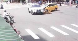BMW休旅車保齡球式連環撞 18機車2轎車全毀