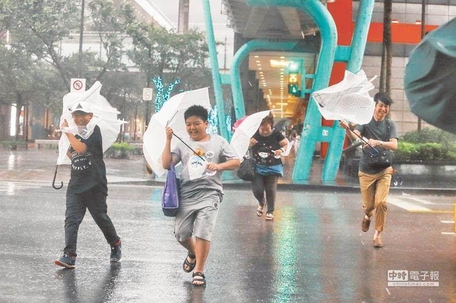 颱風示意圖。(本報資料照)