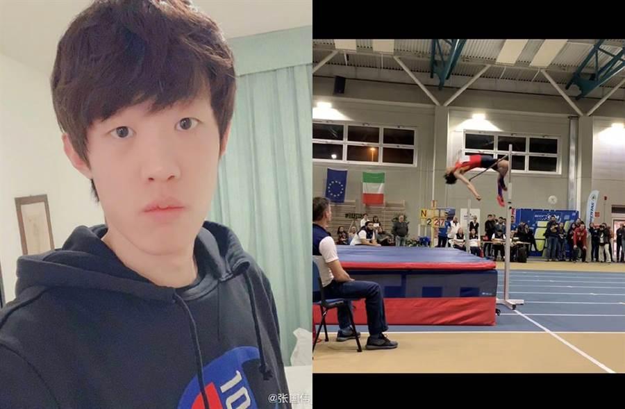 前世界跳高冠軍張國偉今年宣布退役。(圖/翻攝自微博)