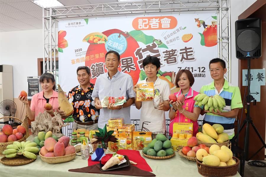 台南市左鎮芒果節即將於11、12日在左鎮區光榮休閒農業園區登場,除了熱鬧農產市集,還有美食料理、芒果冰沙免費品嘗、芒果口袋餅DIY。(劉秀芬攝)