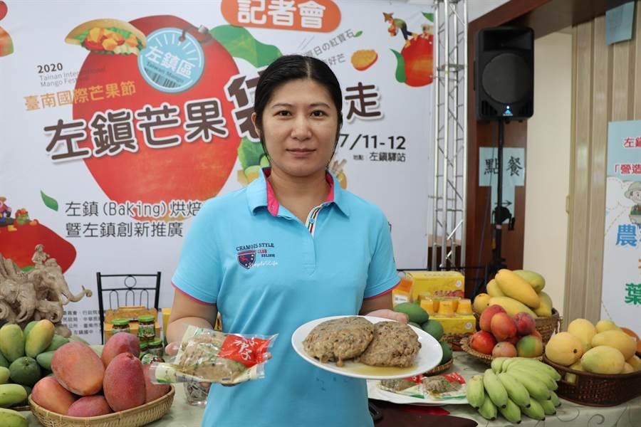 台南市左鎮區收購在地農民種植的破布子,製成破布子丸販售,非常搶手。(劉秀芬攝)