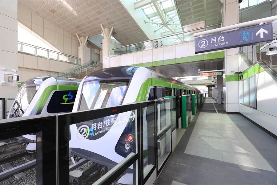 台中捷運綠線力拚年底通車目標,帶動沿線18個捷運站點的房市效應。(盧金足攝)