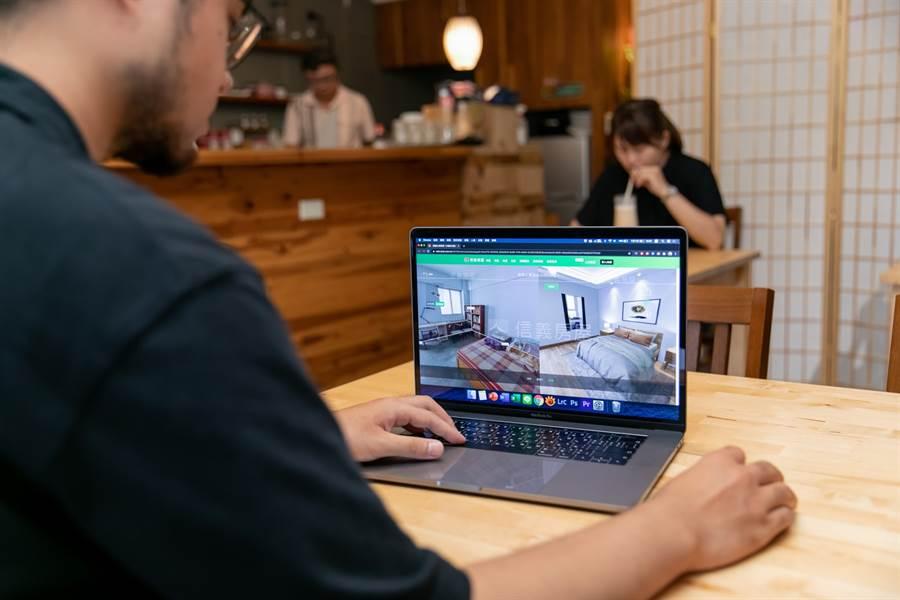 「DiNDON智能賞屋」的3D變裝功能,讓消費者早一步看到未來家的樣貌