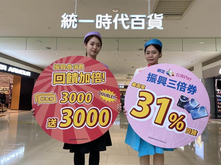 夢時代購物中心將於7月15日推出振興券優惠方案,憑政府紙本振興券到指定店櫃消費滿3千。(夢時代提供/柯宗緯高雄傳真)