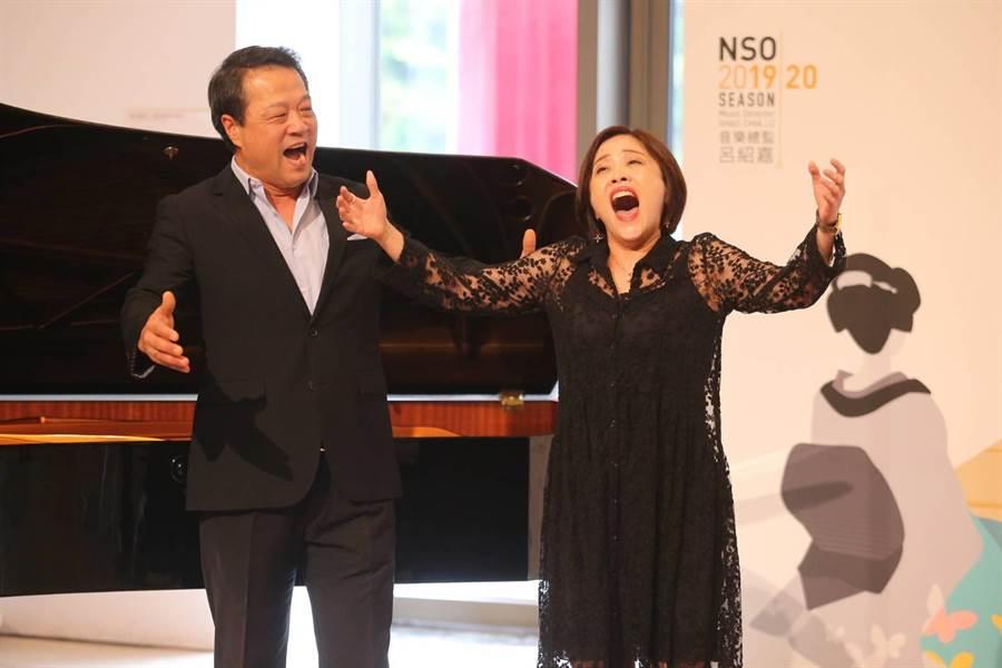 女高音林玲慧(右)將和男高音崔勝震(左)一起擔任歌劇音樂會《蝴蝶夫人》主演。(杜宜諳攝)