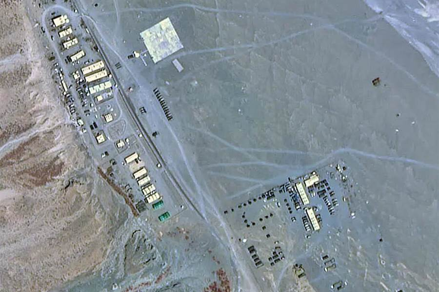 印度軍隊在靠近加勒萬河谷部署的軍事基地。(圖/微博@南海的浪濤)