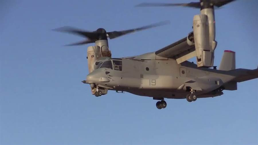 MV-22能垂直起降,以及水平飛行。(圖/USMC)